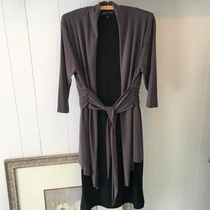 Jones New York Tie Front Mock Jacket Dress